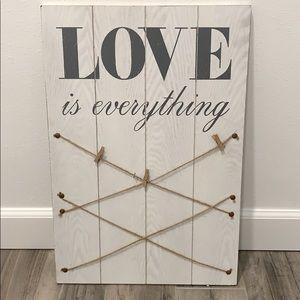 LOVE picture board